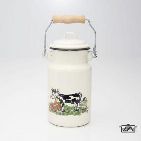 Zománcozott tejeskanna bocis 4 liter