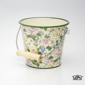 Zománcozott vödör virágos 1 liter