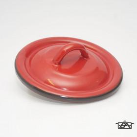 Zománcozott fedő 20cm piros