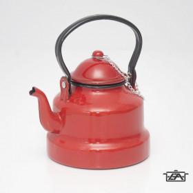 Zománcozott teáskanna piros 1,5 liter