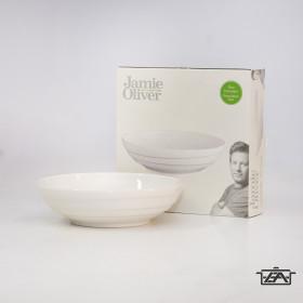 Jamie Oliver 14740 Porcelán tál fehér Waves 24cm