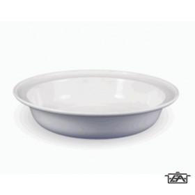 Mély tányér, műanyag, peremes, fehér, E53