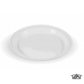 Süteményes tányér, műanyag, fehér, E56