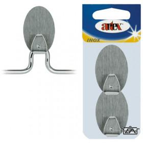 Artex 90387 Nagy fém öntapadós akasztó, 2 db