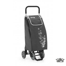 Gimi 392004 Twin húzható-tolható négykerekű bevásárlókocsi szürke