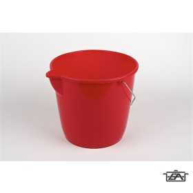 Plastor Trading 37202 Fém füles kerek vödör 10 liter