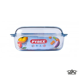 Pyrex 203003 Szögletes sütőtál+fedő 4,3liter+2,2liter