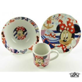 Disney Gyerek étkészlet, porcelán, 3 részes, Minnie, 263002