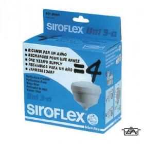 Siroflex Víztisztító szűrőbetét, aktív szenes, 4 darab,  2804