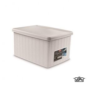 ELEGANCE 20401 tároló doboz fehér 15 literes