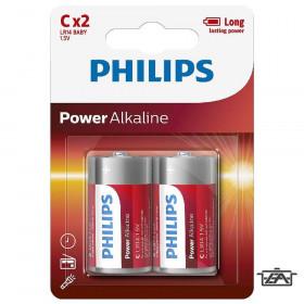 Philips PH-PA-C-B2  Power Alkaline C elem 2db