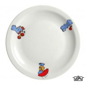 Korona 20131015 Porcelán tányér mély macis 21cm