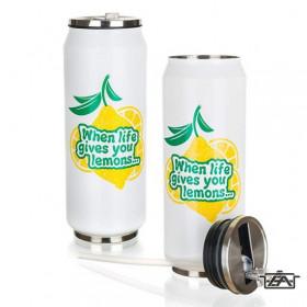 Banquet 48789502 Rozsdamentes termosz 430ml  Be Cool Lemon